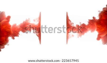 Acrylic colors in water. Abstract background. Abstract banner paints. - stock photo