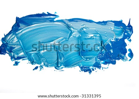 Acrylic paint isolated on white