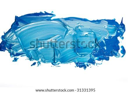 Acrylic paint isolated on white - stock photo