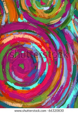 acrylic painting abstract texture background - stock photo