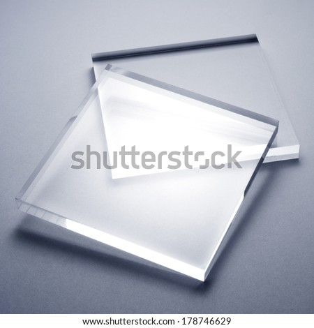 acrylic plates - stock photo