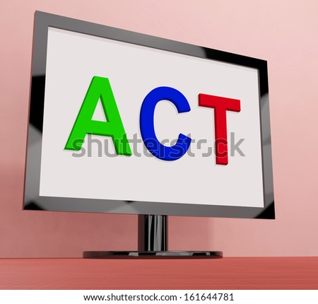 Act On Screen Showing Motivation Inspire Or Perform