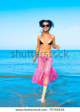 Action Beach Pleasure - stock photo