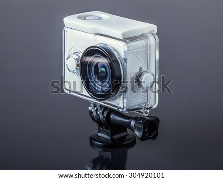 Action camera - stock photo