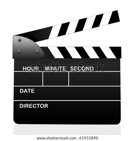 Action Clipboard isolated over white background - stock photo