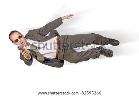 Action hero - stock photo