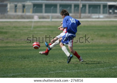 Action Images of Young Men on the Soccer Field