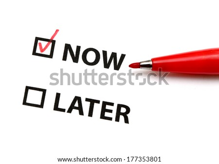 Action now - stock photo