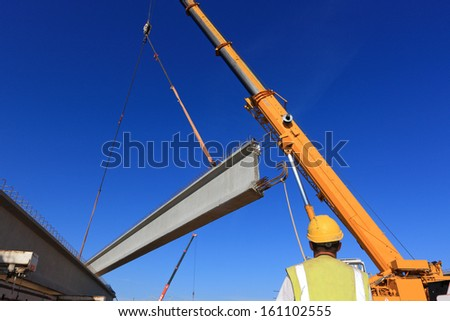 action on a construction site - stock photo