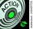 Action Showing Emergency Urgent Or Motivating Act - stock photo