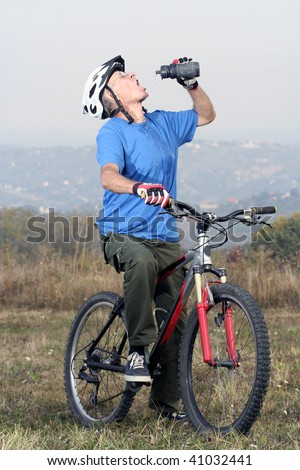 active biking senior - stock photo