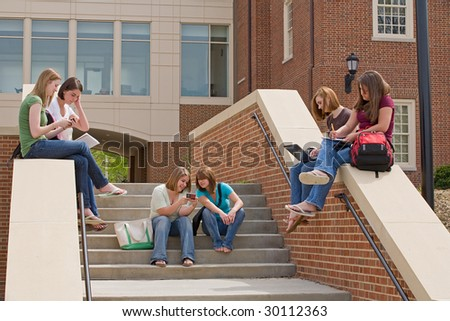Active College Students - stock photo