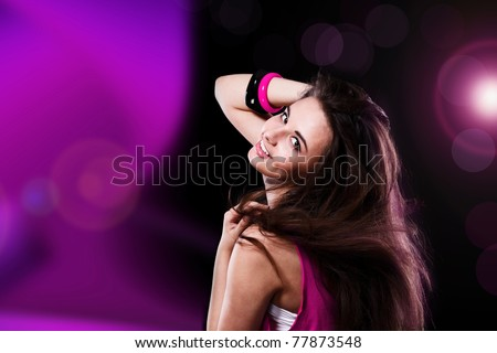 Active dancing teenage girl