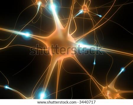 active neurone - stock photo