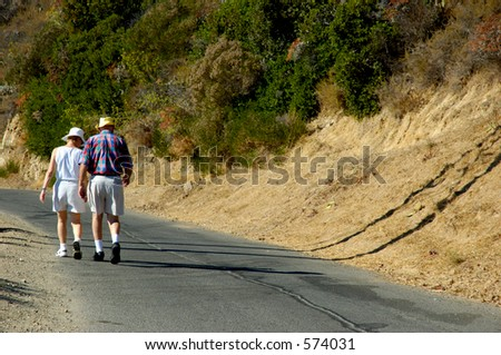 Active older couple - stock photo
