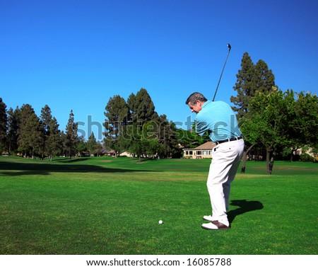 Active Senior Golfer - stock photo
