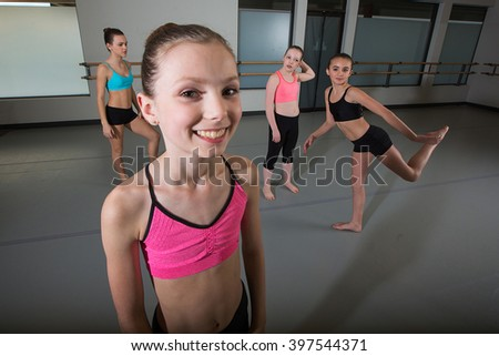 Active, strong young girl - stock photo