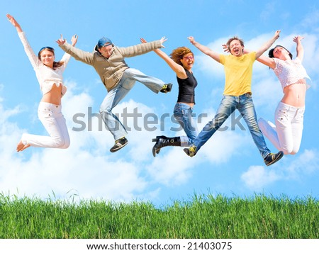 Active youth!!! - stock photo