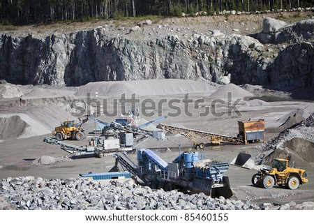 Activity in the Construction Site - stock photo