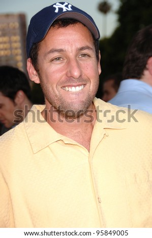 """Actor ADAM SANDLER at the Los Angeles premiere of his new movie """"Click"""". June 14, 2006  Los Angeles, CA  2006 Paul Smith / Featureflash - stock photo"""
