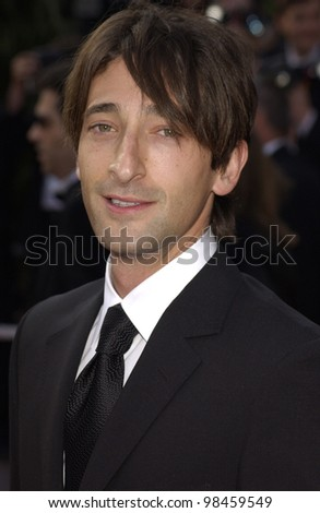 Actor ADRIEN BRODY at the screening of Dogville at the Cannes Film Festival. 19MAY2003