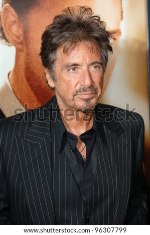 Actor AL PACINO at the world premiere, in Beverly Hills, of his new movie Two For The Money. September 26, 2005  Beverly Hills, CA.  2005 Paul Smith / Featureflash - stock photo