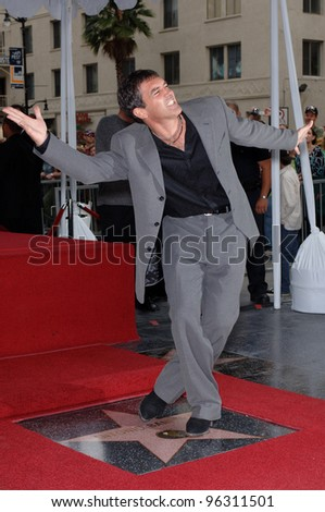 Actor ANTONIO BANDERAS on Hollywood Boulevard where he was honored with the 2,294th star on the Hollywood Walk of Fame. October 18, 2005  Los Angeles, CA.  2005 Paul Smith / Featureflash - stock photo