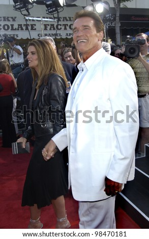 Actor ARNOLD SCHWARZENEGGER at the world premiere of his new movie Terminator 3: Rise of the Machines, in Los Angeles. June 30, 2003  Paul Smith / Featureflash