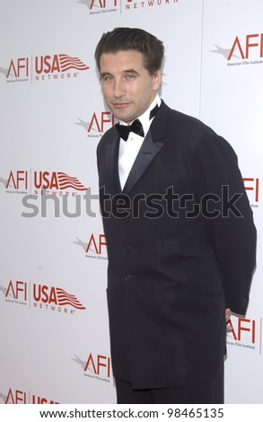 Actor BILLY BALDWIN at the AFI Life Achievement Award Gala, in Hollywood, honoring Robert De Niro. June 12, 2003