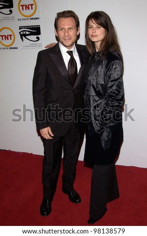 Actor CHRISTIAN SLATER & wife at the 16th Annual American Cinematheque Ball, in Beverly Hills, honoring Nicolas Cage. 28OCT2001.   Paul Smith/Featureflash