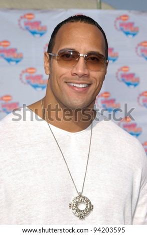 Actor DWAYNE JOHNSON, aka The ROCK, at Nickelodeon's 15th Annual Kids Choice Awards in Santa Monica.  20APR2002.  Paul Smith / Featureflash - stock photo