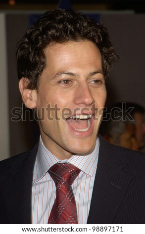 Actor IOAN GRUFFUDD at the world premiere, in Hollywood, of Miracle. February 2, 2004