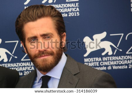 Actor Jake Gyllenhaal attends 'Everest' Photocall during the 72nd Venice Film Festival on September 2, 2015 in Venice, Italy. - stock photo
