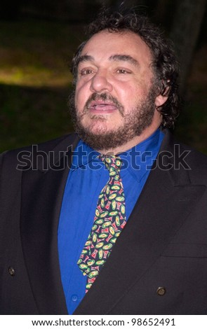 Actor JOHN RHYS-DAVIES at party in Cannes to promote his new movie The Lord of the Rings. The party was held in the medieval Chateau de Castellaras in Mougins. 13MAY2001.   Paul Smith/Featureflash - stock photo