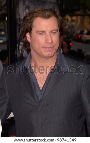 Actor JOHN TRAVOLTA at the Los Angeles premiere of his new movie Swordfish. 04JUN2001.   Paul Smith/Featureflash