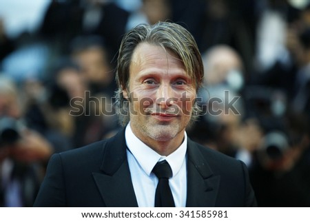 Actor Mads Mikkelsen attends the Closing Ceremony and the 'Therese Desqueyroux' Premiere during the 65th Annual Cannes Film Festival at Palais des Festivals on May 27, 2012 in Cannes, France. - stock photo