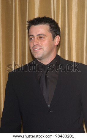 Actor MATT LEBLANC at the Museum of Television & Radio Gala, in Beverly Hills, honoring the producer of Friends. November 10, 2003  Paul Smith / Featureflash