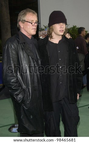 Actor NICK NOLTE & actor son BRAWLEY NOLTE at world premiere of Nick's new movie The Hulk at Universal Studios Hollywood. June 17, 2003  Paul Smith / Featureflash