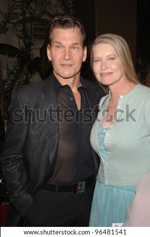 "Actor PATRICK SWAYZE & wife actress LISA NIEMI at the Los Angeles premiere of ""Last Holiday"". January 12, 2006  Los Angeles, CA.  2006 Paul Smith / Featureflash"