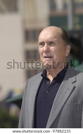 Actor ROBERT DUVALL on Hollywood Blvd where he was honored with the 2,236th star on the Hollywood Walk of Fame. Sept 18, 2003  Paul Smith / Featureflash