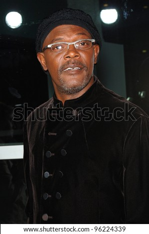 Actor SAMUEL L. JACKSON at the Los Angeles premiere of his new movie The Man. September 6, 2005  Los Angeles, CA.  2005 Paul Smith / Featureflash - stock photo