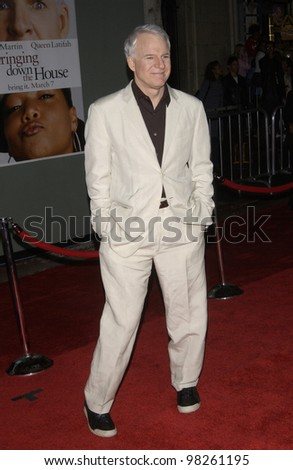 Actor STEVE MARTIN at the Hollywood premiere of his new movie Bringing Down The House. 02MAR2003.   Paul Smith / Featureflash - stock photo