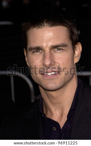 Actor TOM CRUISE at the world premiere, in Los Angeles, of his new movie Collateral. August 2, 2004 - stock photo