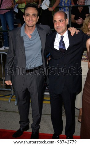 Actors HANK AZARIA (left) & STANLEY TUCCI & wife at the world premiere, in Los Angeles, of their new movie America's Sweethearts. 17JUL2001   Paul Smith/Featureflash