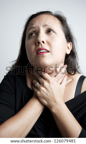 Actress acting in dramatic manner - stock photo