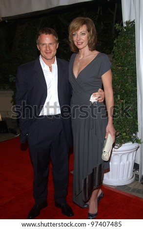 Actress ALISON JANNEY & boyfriend at party in Los Angeles to celebrate to 100th episode of TV series The West Wing. November 1, 2003  Paul Smith / Featureflash