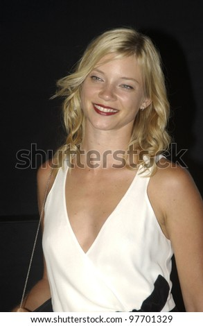 Actress AMY SMART at fashion show event on Rodeo Drive, Beverly Hills, where designer Giorgio Armani was honored with the first Rodeo Drive Walk of Style Award. Sept 9, 2003  Paul Smith / Featureflash