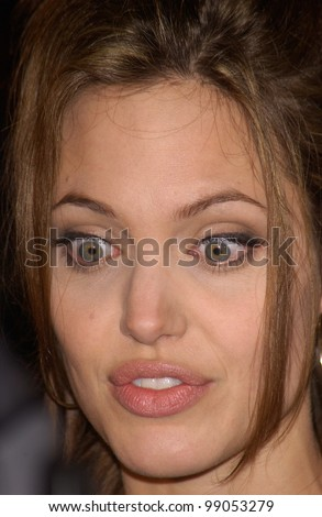 Actress ANGELINA JOLIE at the world premiere, in Hollywood, of her new movie Taking Lives. March 16, 2004