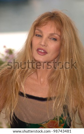 Actress ARIELLE DOMBASLE at the Cannes Film Festival to promote his new movie Savage Souls. 20MAY2001.  Paul Smith/Featureflash