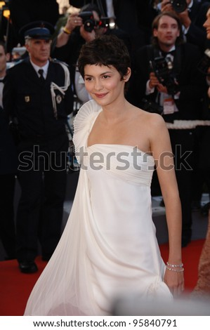 "Actress AUDREY TAUTOU at the gala screening of ""The Da Vinci Code"" at the 59th Annual International Film Festival de Cannes. May 17, 2006  Cannes, France.  2006 Paul Smith / Featureflash"